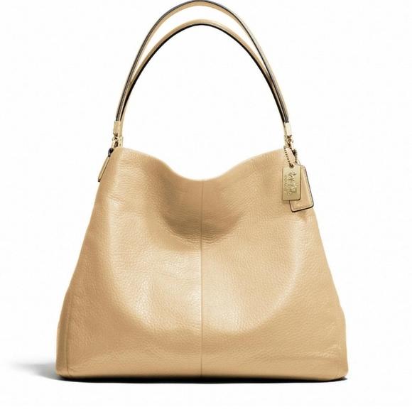 Coach Madison pebbled leather phoebe purse